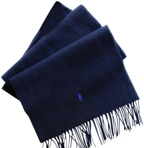 Ralph Lauren authentic RALPH LAUREN wrap SCARF lambs wool BLACK new!