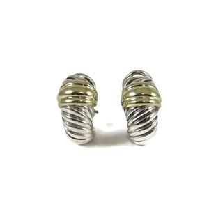 David Yurman David Yurman Sterling Silver 14K Small Thoroughbred Shrimp Earrings