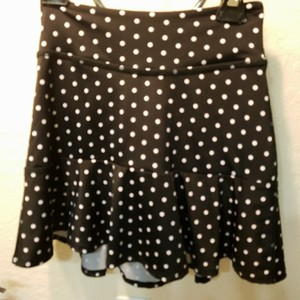 Kate Spade & Beyond Yoga Skirt Black with white polka dots