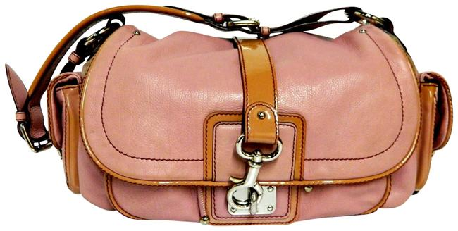 Item - With Patent Trim Blush Leather Hobo Bag