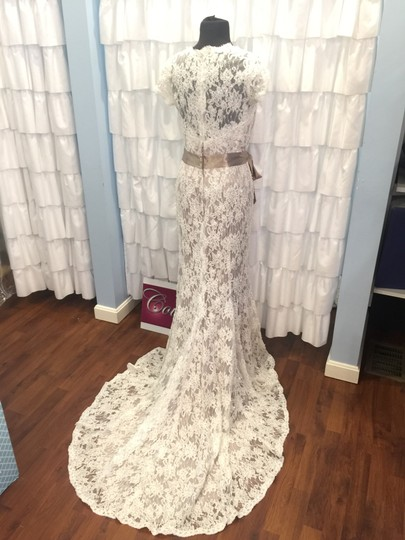Christina Wu Ivory/Mocha / Jaqueline 9532 Formal Wedding Dress Size 14 (L)