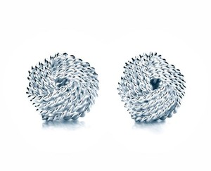 Tiffany & Co. New Sterling Silver Twist Knot Earrings