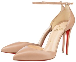 Christian Louboutin Uptown Ankle Strap Nude Sandals