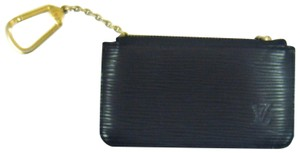Louis Vuitton Pochette Cles Epi Coated Leather Credit Coin Purse Keychain