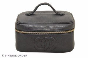 Chanel Chanel Vanity Black Caviar Classic Leather Bag