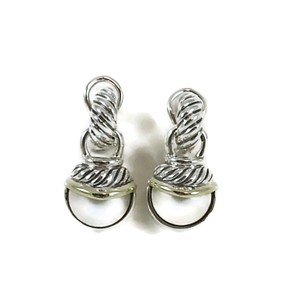 David Yurman David Yurman Sterling Silver 14K Mabe Pearl Capri Drop Earrings
