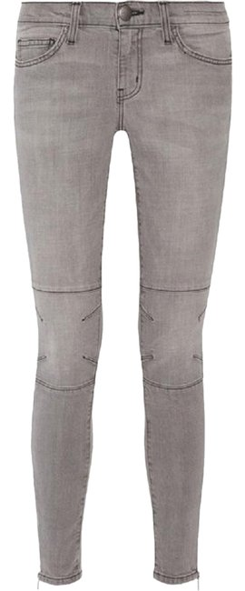 Current/Elliott Gray The Prospect Gutter Ankle Zip Moto Style Skinny Jeans Size 26 (2, XS) Current/Elliott Gray The Prospect Gutter Ankle Zip Moto Style Skinny Jeans Size 26 (2, XS) Image 1