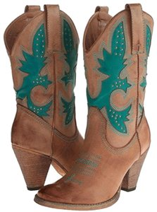 Very Volatile Tan and teal Boots