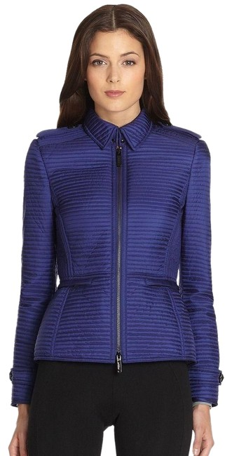 Item - Blue New Womens Sapphire Horizontal Quilted Jacket Coat Size 12 (L)
