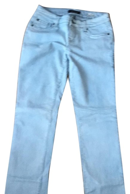 Item - Blue and White Straight Leg Jeans Size 26 (2, XS)