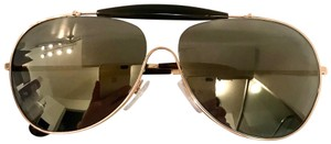 Prada Gold Gray Grad Aviators Sunglasses