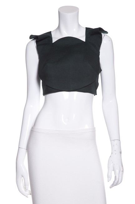 Item - Cropped Structured Green Top