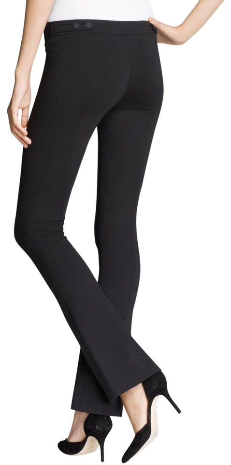 56fc2dad84f Vince Black Front Seam Stretch Jersey Knit Bootcut Ponte Legging ...