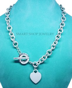 Tiffany & Co. New 16 Inches Heart Charm Toggle Necklace