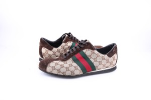 Gucci * Gg Ssima Green Red Web Sneakers Shoes