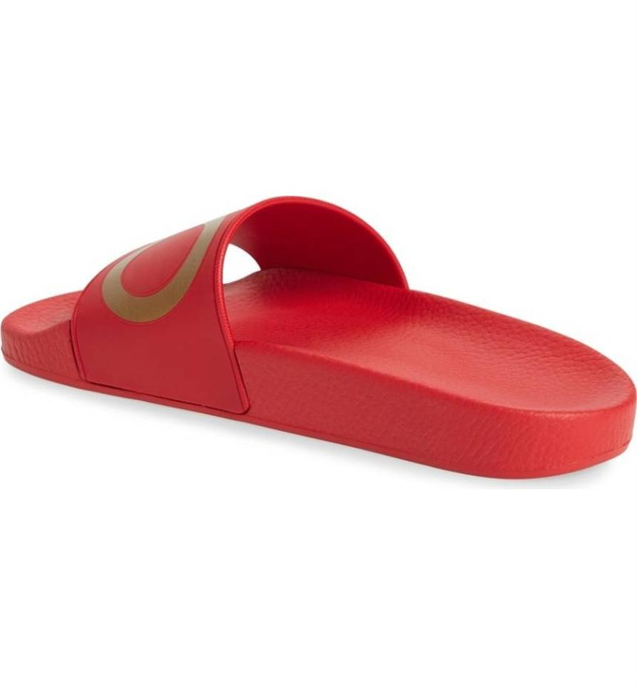 52ca8a351acb56 Slide Pool New Red Sandals Salvatore Ferragamo Gold Groove fYgW6qw ...