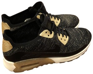 0468f713e6e Nike Black and Gold Air Max 90 Ultra 2.0 Flyknit Metallic Sneakers Size US  10 Regular (M, B) 47% off retail