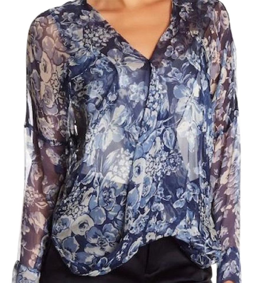 e7c18adb2f36b9 Johnny Was 4 Love and Liberty Floral Silk Blouse Size 12 (L) - Tradesy