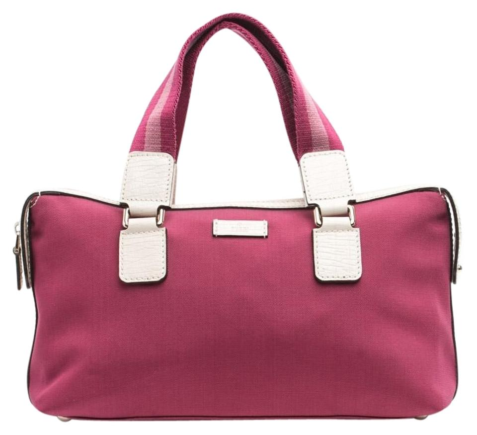 Gucci Boston Handbag Bowling Fuschia Nylon Satchel - Tradesy f7adf504825c0