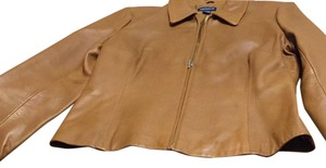 Ann Taylor British Tan Leather Jacket