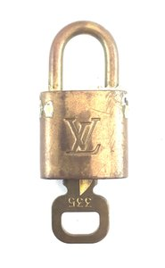 Louis Vuitton #16347 Gold Tone Brass Lock and key set #335 Speedy Alma Keepall bag