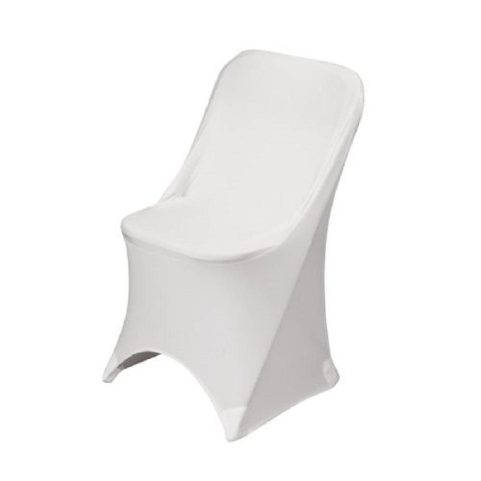 Pleasing White New 120 Stretch Spandex Folding Chair Covers Reception Decoration Frankydiablos Diy Chair Ideas Frankydiabloscom