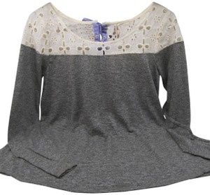 Mystree Great With Jeans Top Grey Ivory