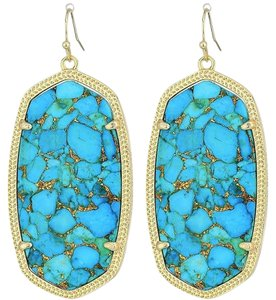 Kendra Scott NEW Kendra Scott Danielle Statement Drop Earrings Veined Turquoise
