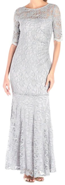Item - Gray New Womens Shimmer Lace Mermaid Ball Gown Long Formal Dress Size 6 (S)