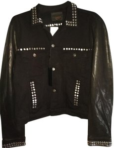 J. Lindeberg Black Womens Jean Jacket