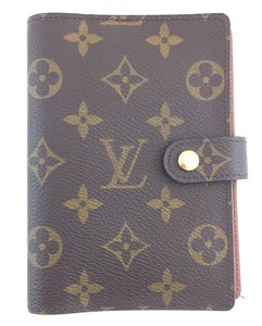 Louis Vuitton #16320 monogram 6 Ring agenda pm check book wallet holder card
