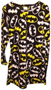 Marvel Batman Fleece Nightshirt Pajama Top Black