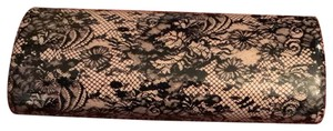 Jimmy Choo lavender with black lace Clutch