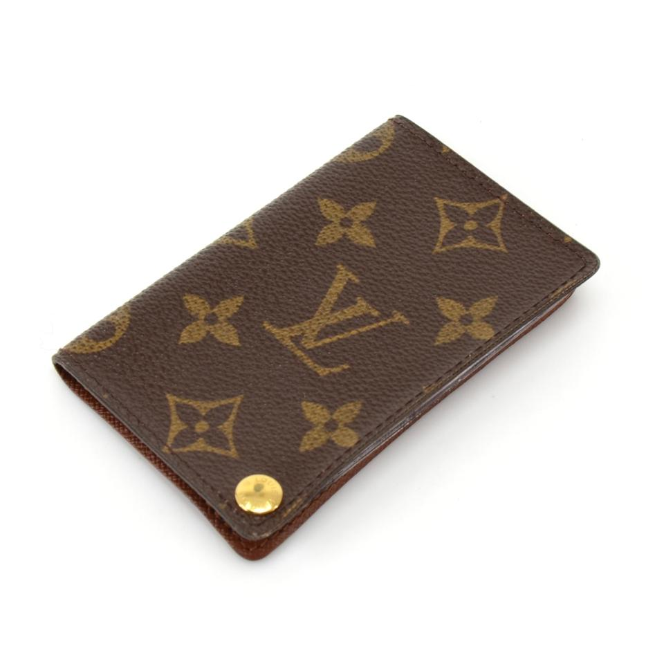 Louis Vuitton Brown Porte Portecartes Credit Pression Monogram - Porte carte credit