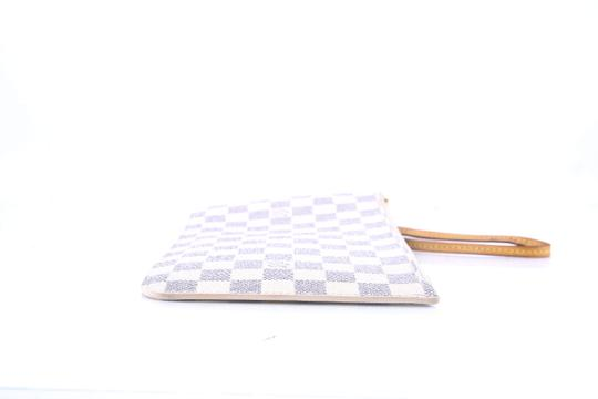 Louis Vuitton * Louis Vuitton Neverfull Removable Zippered Clutch Damier Azur