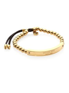 Michael Kors Brand New Michael Kors Heritage Plaque Slider Bracelet Gold