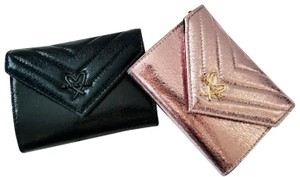 Victoria's Secret NEW 2x Victorias Secret Metallic Crackle medium Wallet with coin purse