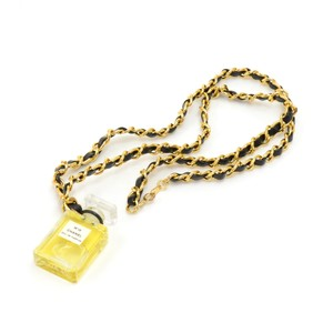Chanel Chanel N19 Perfume Bottle Pendant Chain Necklace