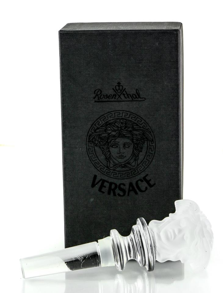 41755006568 Versace   Leaded Crystal Glass Rosenthal Medusa Wine Bottle Stopper ...