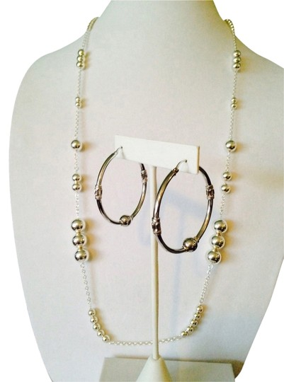 Other 2-Piece Set NWOT Bead & Chain Long Necklace & Earrings