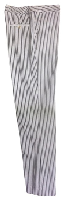 Item - White and Navy Pinstripe Pants Size Petite 4 (S)