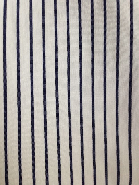 Ralph Lauren Trouser Pants White and Navy Pinstripe