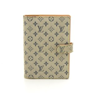 Louis Vuitton Louis Vuitton Agenda PM Mini Line Blue Monogram Canvas Agenda Cover