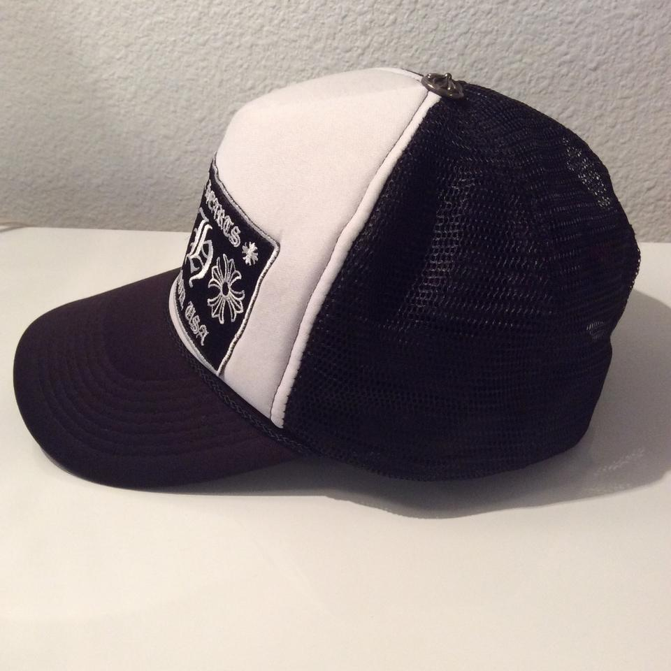3aca5683c4a0c Chrome Hearts Mesh Trucker White  Black Cap Hat with CH Patch Hollywood USA  Image 8. 123456789
