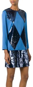 Tory Burch Sequin Satin Sheath Mini Dress