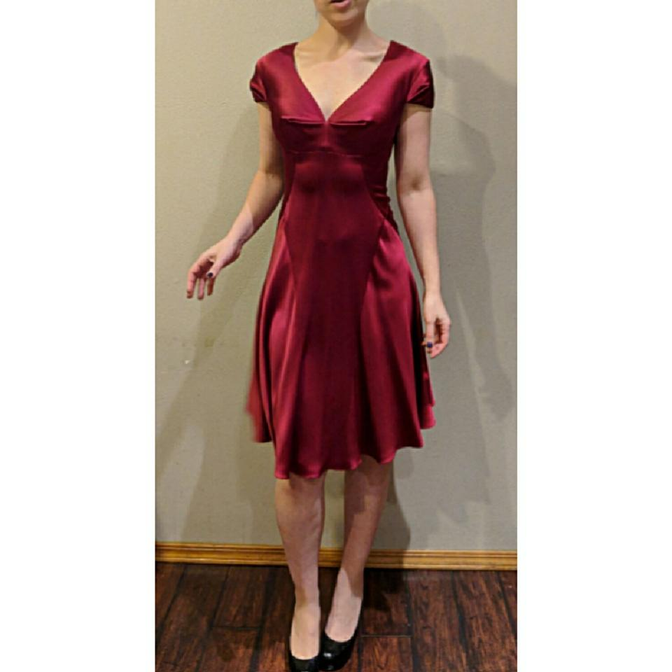 Zac posen red red dart silk fit n flair fitted mid length cocktail 123456789 ombrellifo Choice Image
