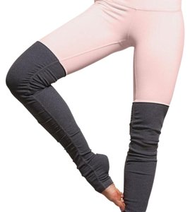 Alo Goddess Ribbed Leggings Pink Cloud/Stormy Heather