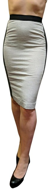 Item - Gray White Color Block Pencil Or 4 Skirt Size 6 (S, 28)
