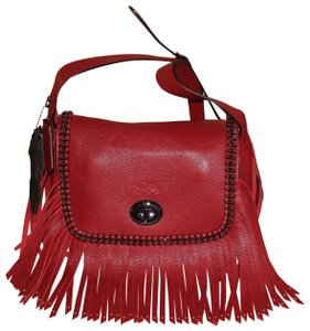 Coach 33939 Shoulder Fringed Whiplash Leather Dakotah Cross Body Bag