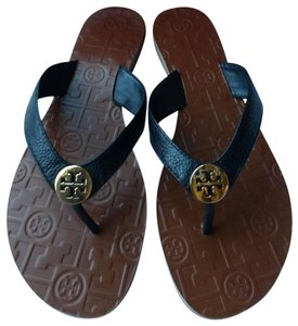 Tory Burch Leather Size 6 Black Sandals